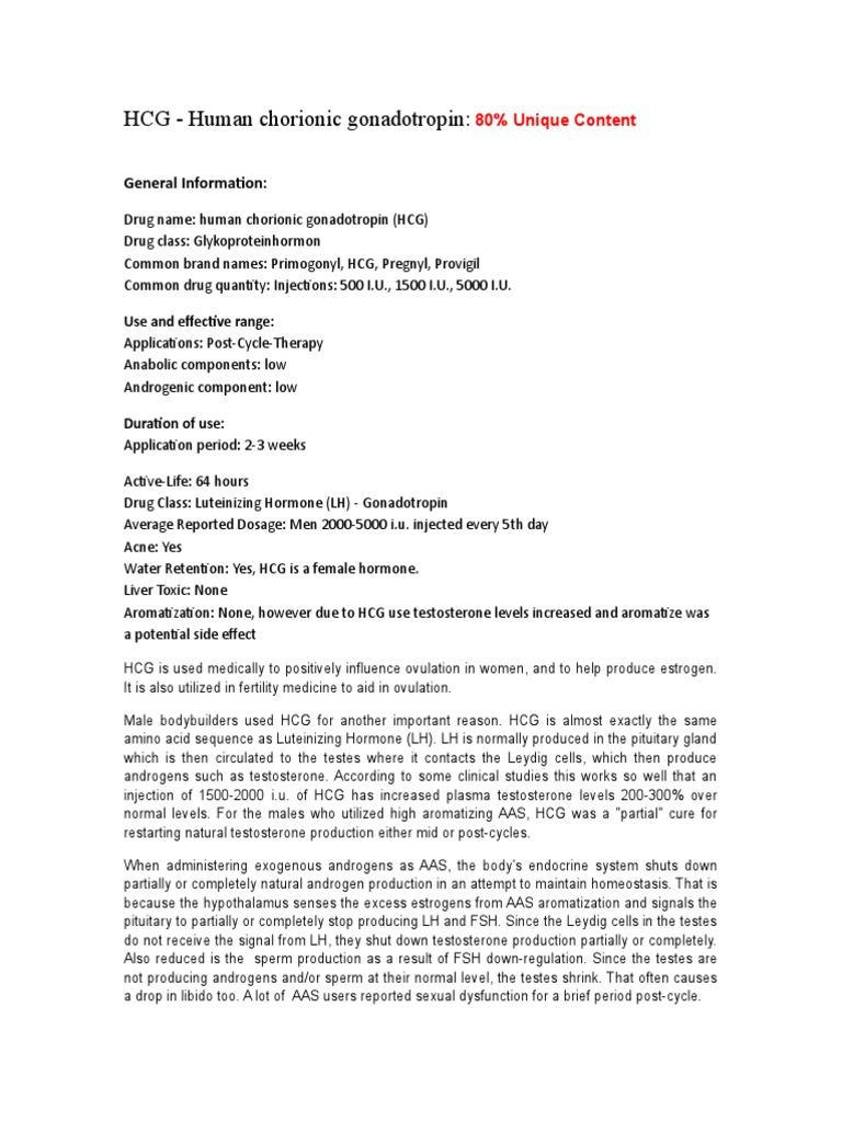 HCG - Human chorionic gonadotropin:: General Information