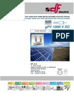 Ficha Técnica Fusíveis GPV Para Aplicações Fotovoltaicas 10x38 14x51 1000VDC