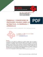 Donoso Creencias de profesores sobre matemática.pdf