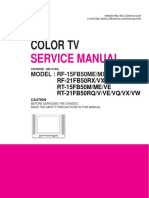LG COLOR TV SERVICE MANUAL