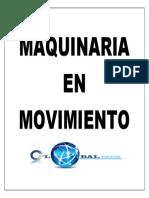 Señaletica Maquinaria en Movimiento
