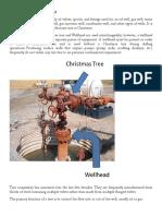 Chrismas Tree, Spool and Nodding Donkey