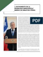 """EL AGOTAMIENTO DE LA  """"GOBERNABILIDAD DEMOCRÁTICA""""  EN EL GOBIERNO DE SEBASTIÁN PIÑERA"""
