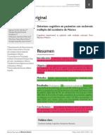 Deterioro cognitivo en pacientes con esclerosis múltiple del occidente de México. (Spanish).