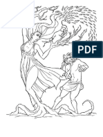 Apolo y Dafne Para Colorear