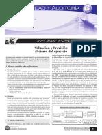 Valuacion y Provision Al Cierre Del Ejercicio
