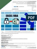 Cómo Desbloquear Contraseña de Proyecto VBA de Excel