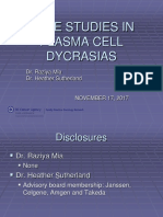 Cases Study in Plasma Cell Dyscrasia