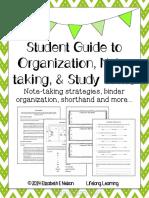 studentguidetoorganizationnotetakingandstudyskills 1