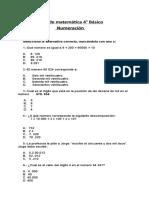 4° BASICO actividades numeracion