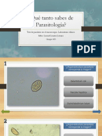 Qué Tanto Sabes de Parasitología