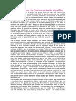 Ensayo de La Lectura Los Cuatro Acuerdos de Miguel Ruiz