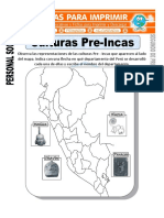 Ficha de Culturas Pre Incas Para Segundo de Primaria