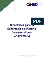 Directrice s Generac i ó n Material Documental