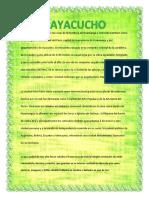Resumen de Ayacucho-Perú