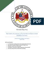 Alabama Governor SAFE Council report - May 7, 2018