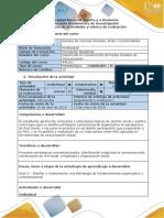 Guía Actividades y Rúbrica Evaluación - Fase 5 - Diseñar e Implementar Una Estrategia Comunicacional