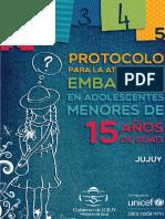 Salud Protocolo-Embarazo Adolescente en Jujuy