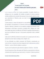 Concepto y Fuentes de La Historia Del Derecho Peruano