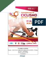 Resultados Hombres Élite Campeonato Panamericano de Ruta San Juan