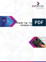 Emertxe Oracle 11g Syllabus