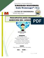 Psicoatologia Del Lenguaje en La Audicion