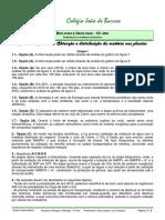 FT2 Revisões CC Exercicios Experiencias Obtenção Distribuição Da Matéria Plantas