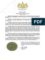 Governor Wolf Proclamation -- Corrections Officer Week, 2018