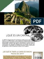 Carta de Machu Picchu