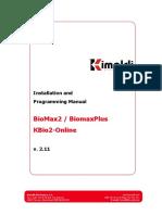 Installation and Programming Manual BioMax2 English