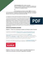 Objetivos Del Desrrollo Sostenible