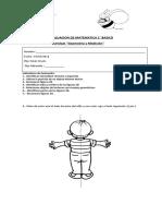 Evaluacion de Matematica 2 Geometria y Medicion