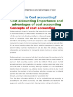 Cost Accounting Importance and Advantages of Cost Accounting Papa