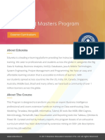 Business Intelligence Masters Program Curriculum