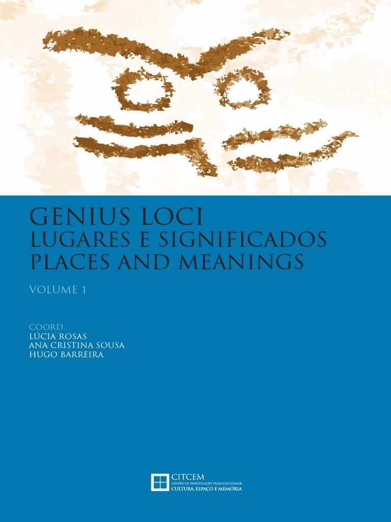 Genius loci  Lugares e significados. Vol. 1 e0b5d53fed9ac