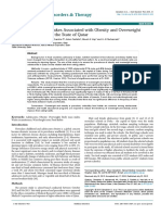 Dietary Habits and Intakes Associated with Obesity and Overweight among Adolescents in the State of Qatar