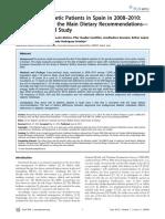 The Diet of Diabetic Patients in Spain in 2008–2010