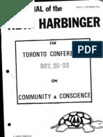 NASCO Journal of the New Harbinger 1971-11 - Toronto Conference
