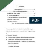 Instruction Books for Alram Clock