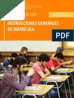 Intrucciones Matricula p2018