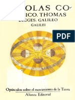 Copernico, Digges, Galileo - Opusculos Sobre El Movimiento de La Tierra