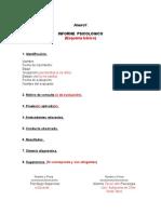 306704722 Estructura Informe Psicologico