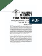 Paradigmas Da Filosofia e Teorias Educacionais