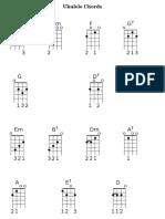 Ukulele Chord Sheet