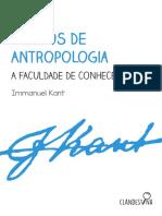 Kant-Cursos de Antropologia-Faculdade de Conhecer
