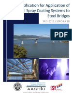 s8.2 2017 Specification for Application of Thermal Spray Coating for Steel Bridges