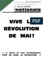 Quatrième Internationale, n° 30, Juin 1968, Vive la révolution de Mai