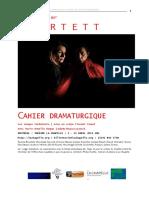 QUARTETT - Cahier Dramaturgique - Mars 2013