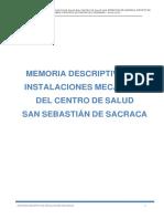 Memoria Descriptiva - Instalaciones Mecanicas
