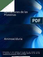 Aplicaciones de Las Proteínas